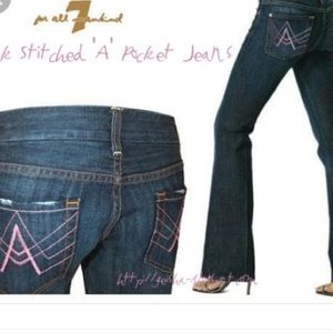 Adorable 7 For All Mankind Pink Stitched Jeans!!